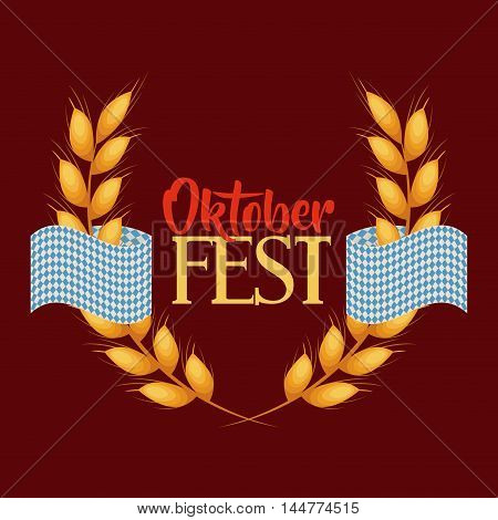 oktober fest invitation poster vector illustration design poster