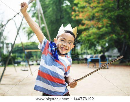 Kid Dressup Superhero Playground Concept