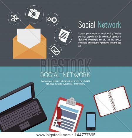 social network media d icon vector illustration design