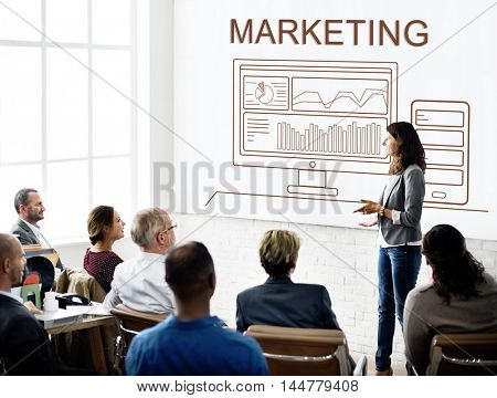 Marketing Progress Summary Analytics Computer Concept