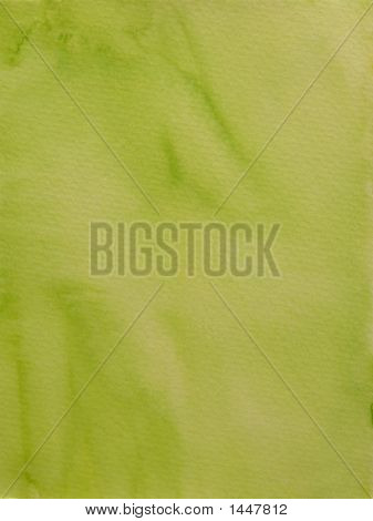 Painted Light Green Background On Textured Paper