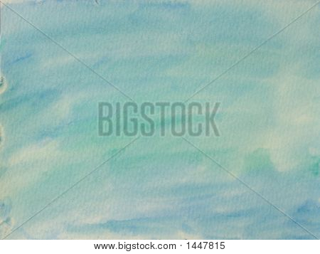 Blue And Green Stains On Textured Paper