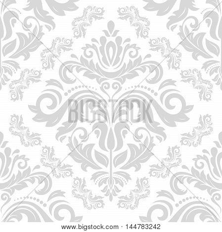 Oriental classic pattern. Seamless abstract background with repeating elements. Light silver orient pattern