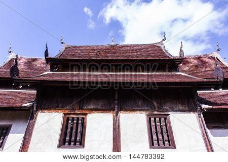 Wat Ton Kain, Old wood chapel in Chiang Mai Thailand