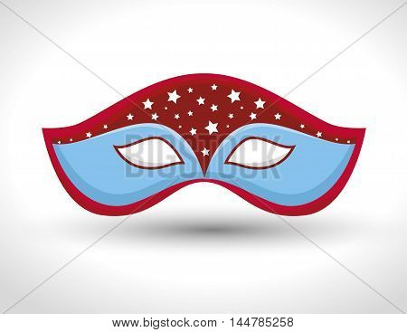 gondolier mask isolated icon vector illustration design