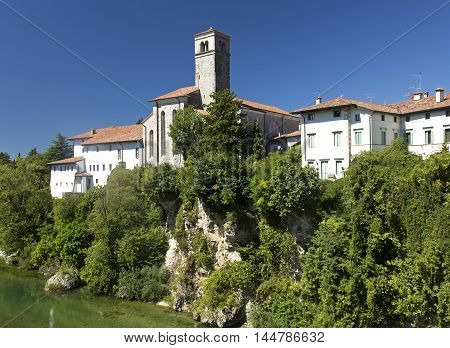 View of the ancient town of Cividale del Friuli Italy