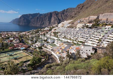 Los Gigantes in Tenerife Canary island Spain.