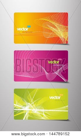 Set of abstract colorful labels with lines and place for your text.