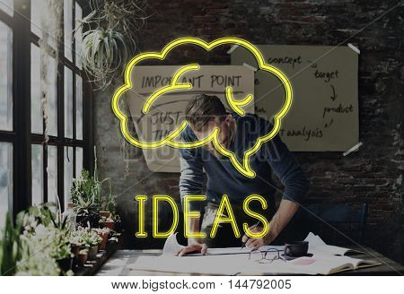 Creation Brainstorming Ideas Creation Cloud Graphic Concept
