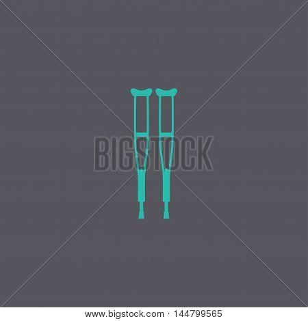 Crutches Icon. Modern Design Flat Style