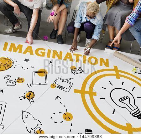 Vision Thinking Progress Invention Design Graphic Concept