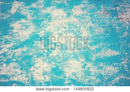 Blue grunge texture distressed background. Textured Wall with scratches weathered surface