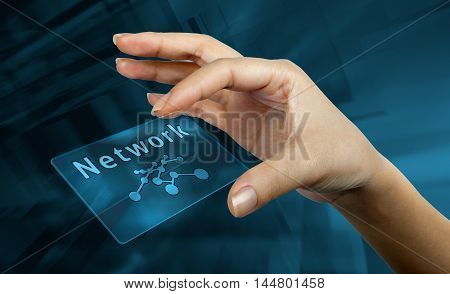 digital card with the word and symbol network