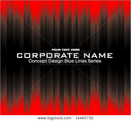 VECTOR Blue lines Concept for this corporate flayer or idcard
