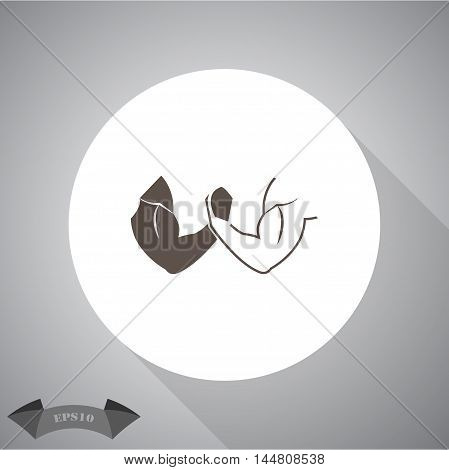 Arm Wrestling sport vector icon for web and mobile