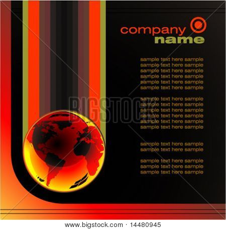 VECTOR Concept Business Global Company background  brochure