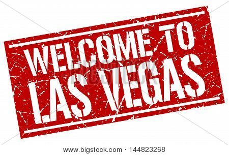 welcome to Las Vegas. stamp. grunge square sign