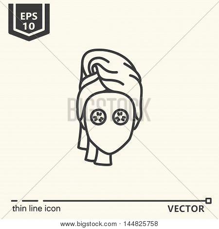 Thin line icon - beauty treatments. EPS 10. Isolated object