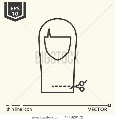 Thin line icon - beauty treatments 2. EPS 10. Isolated object