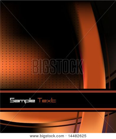 Elegant Style Futuristic Business Card for Depliant or brochures cover