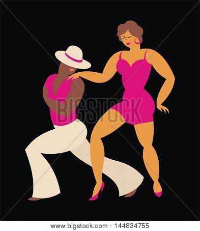 lady and gentleman dance Latin America tango
