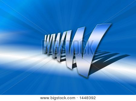 Www  World Wide Web In Blue