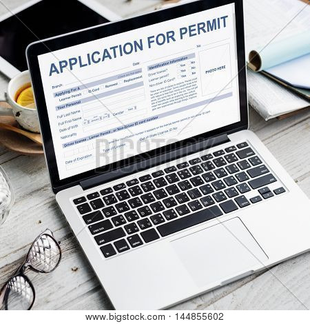 Application for Permit Form Authority Concept
