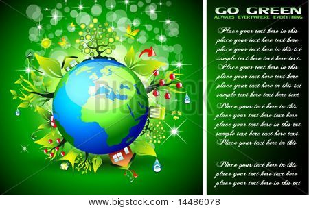 Go Green Ecology Background for Environmental Respect Posters