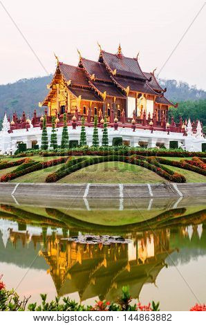 architecture beautiful in the garden Lanna style,Thailand