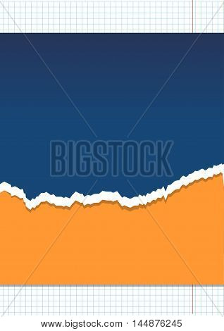 Abstract vector paper background with ragged edge.