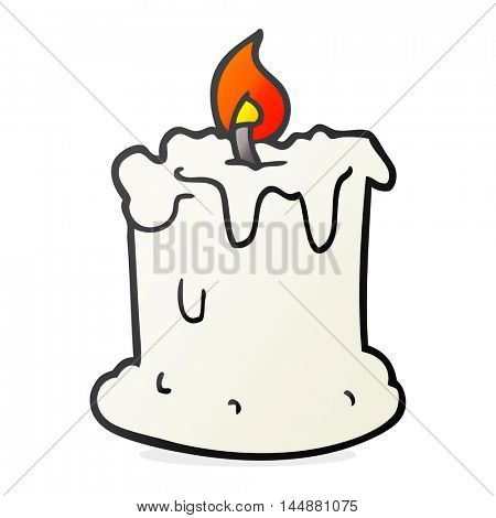 freehand drawn cartoon dribbling candle