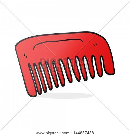 freehand drawn cartoon comb