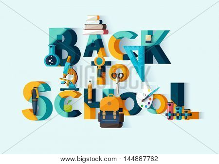 Back to school - typographic composition