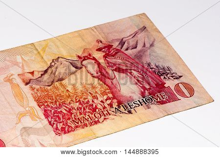 10 Lesotho loti bank note. Lesotho loti is the national currency of Lesotho