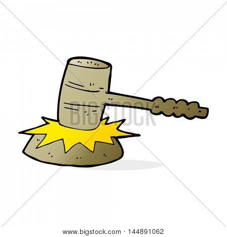 cartoon gavel banging