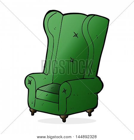 cartoon old armchair