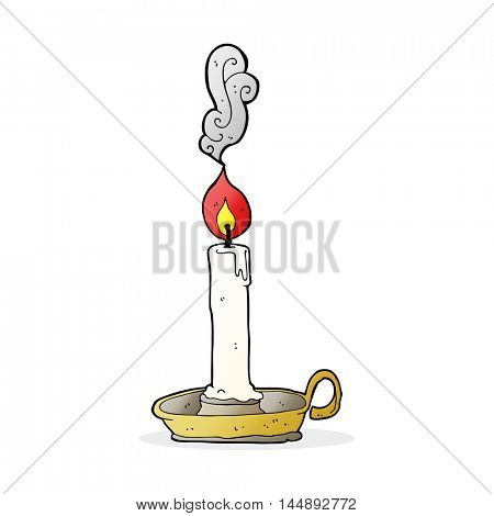 cartoon burning candle