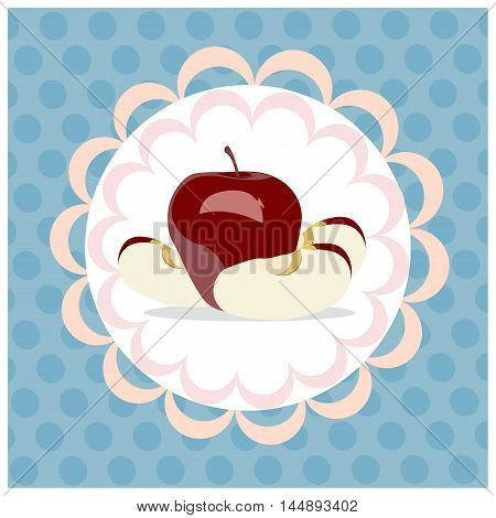 Red Apples On A White Background, Rosh Hashanah - The Jewish New Year, Vector