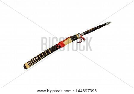 Thailand's ancient sword (saber) isolate on white background