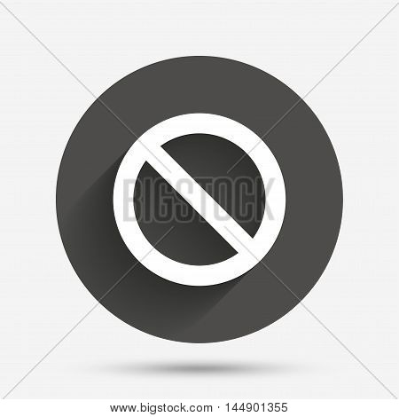 Blacklist sign icon. User not allowed symbol. Circle flat button with shadow. Vector