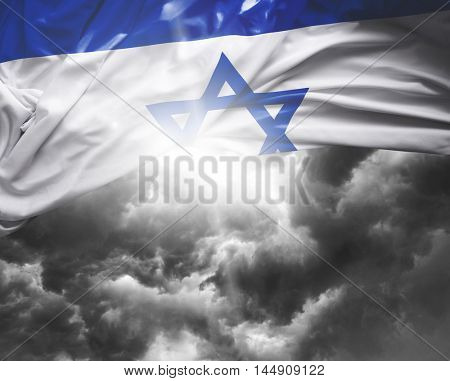 Israel flag on a bad day