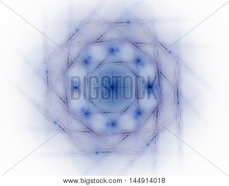 Lacy Colorful Clockwork Pattern. Digital Fractal Art Design. Abstract Design Of Sacred Symbols Signs