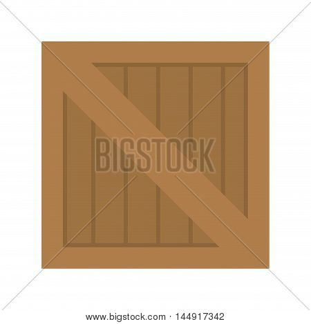 wooden box container cargo cubo packaging vector illustration
