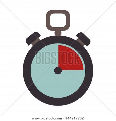 chronometer counter time device precision clock training vector illustration