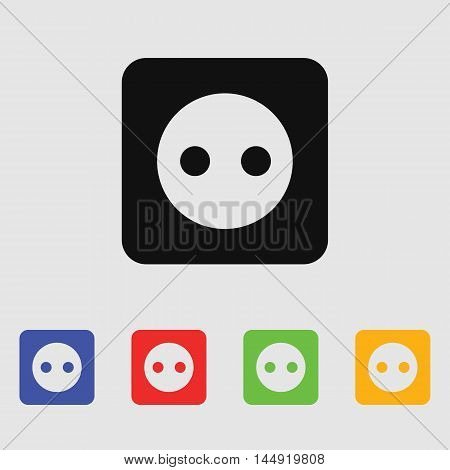 Power socket for the AC Vector icon for web and mobile