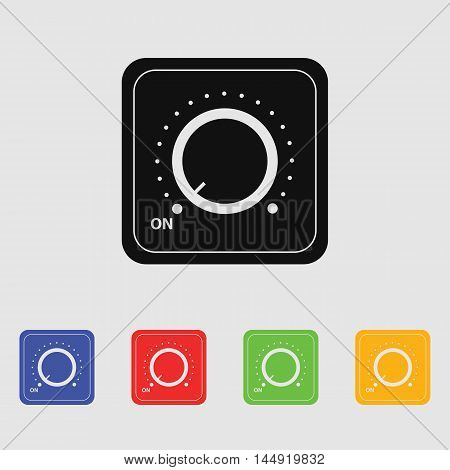Vector switch. Switch icon. On/off icon.  Vector icon for web and mobile