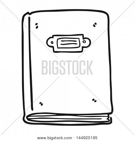 freehand drawn black and white cartoon book