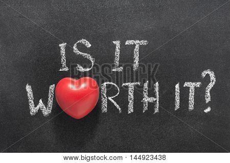 Is It Worth Heart
