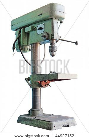 The image of a drilling machine