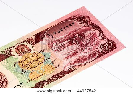 100 afghani bank note. Afghani is the national currency of Afghanistan
